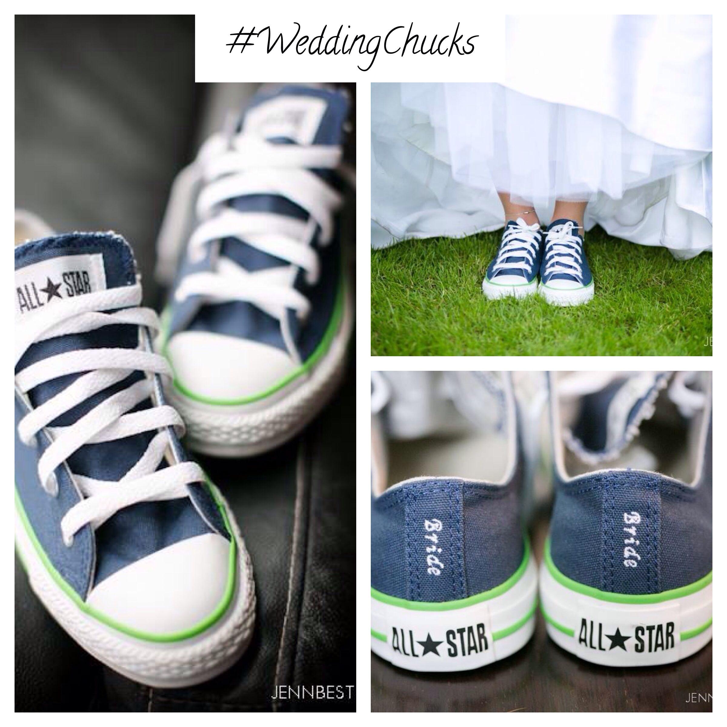 Custom Wedding Chuck Taylor kicks for the bride. Photo courtesy of ...