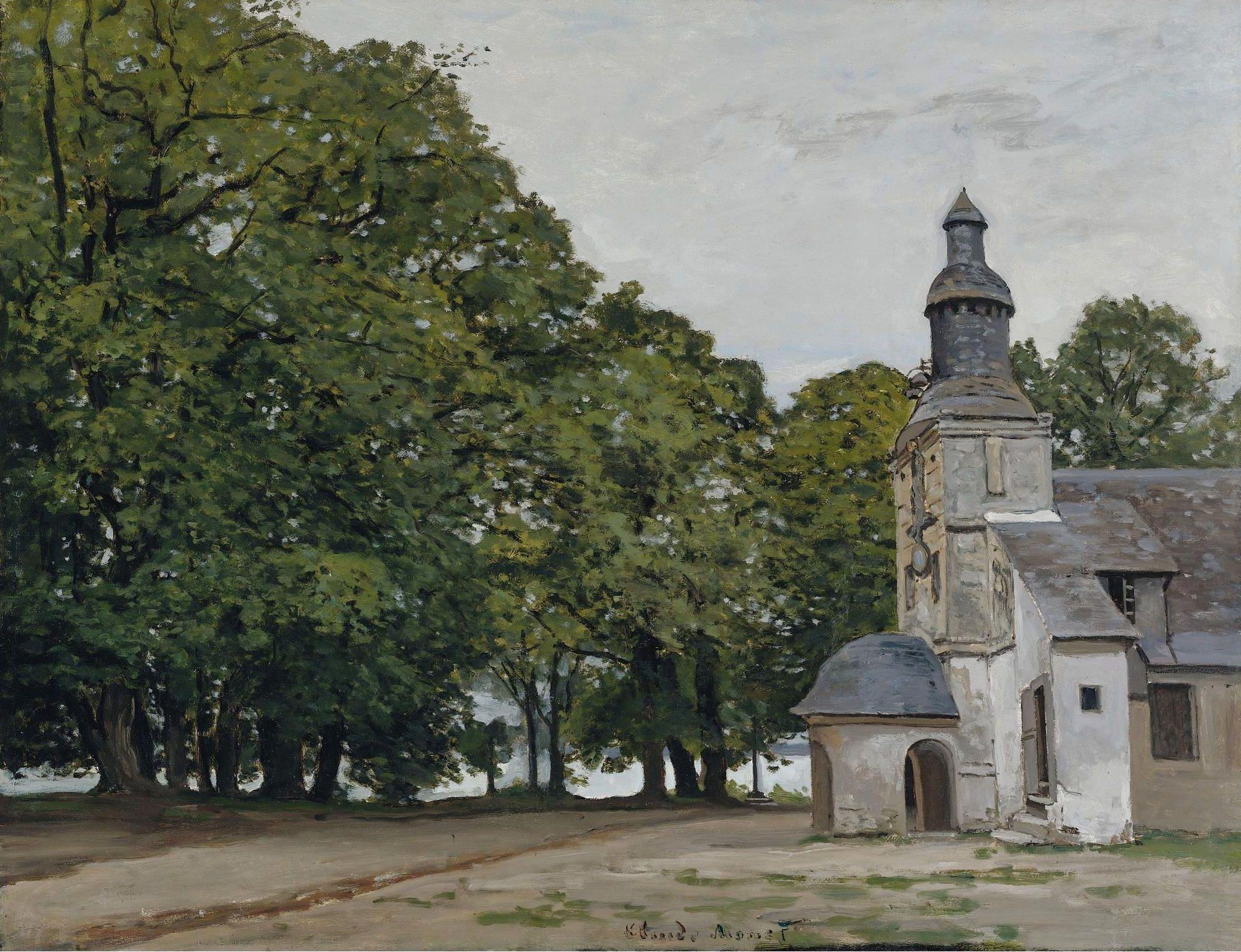 Claude Monet   The Chapel Of Notre Dame De Grace  Honfleur  1864