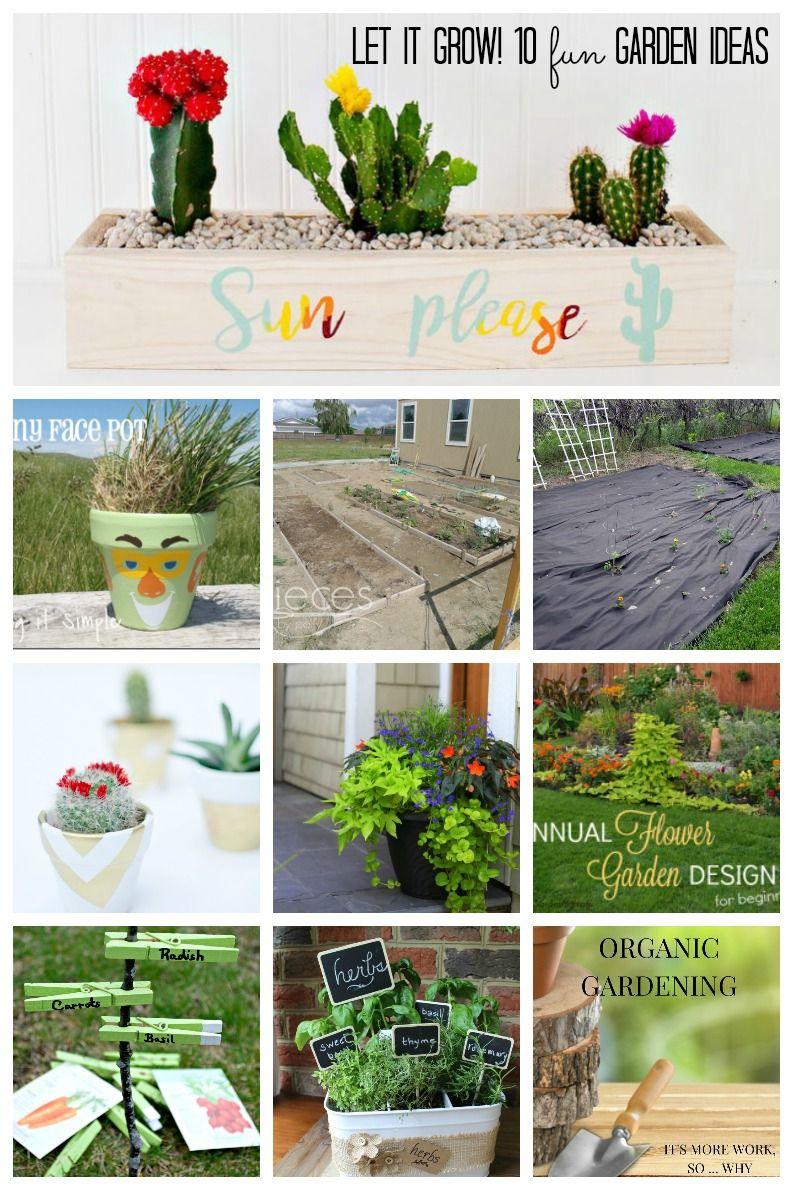 10 Fun Garden Ideas | Garden ideas, Succulents garden and Gardens
