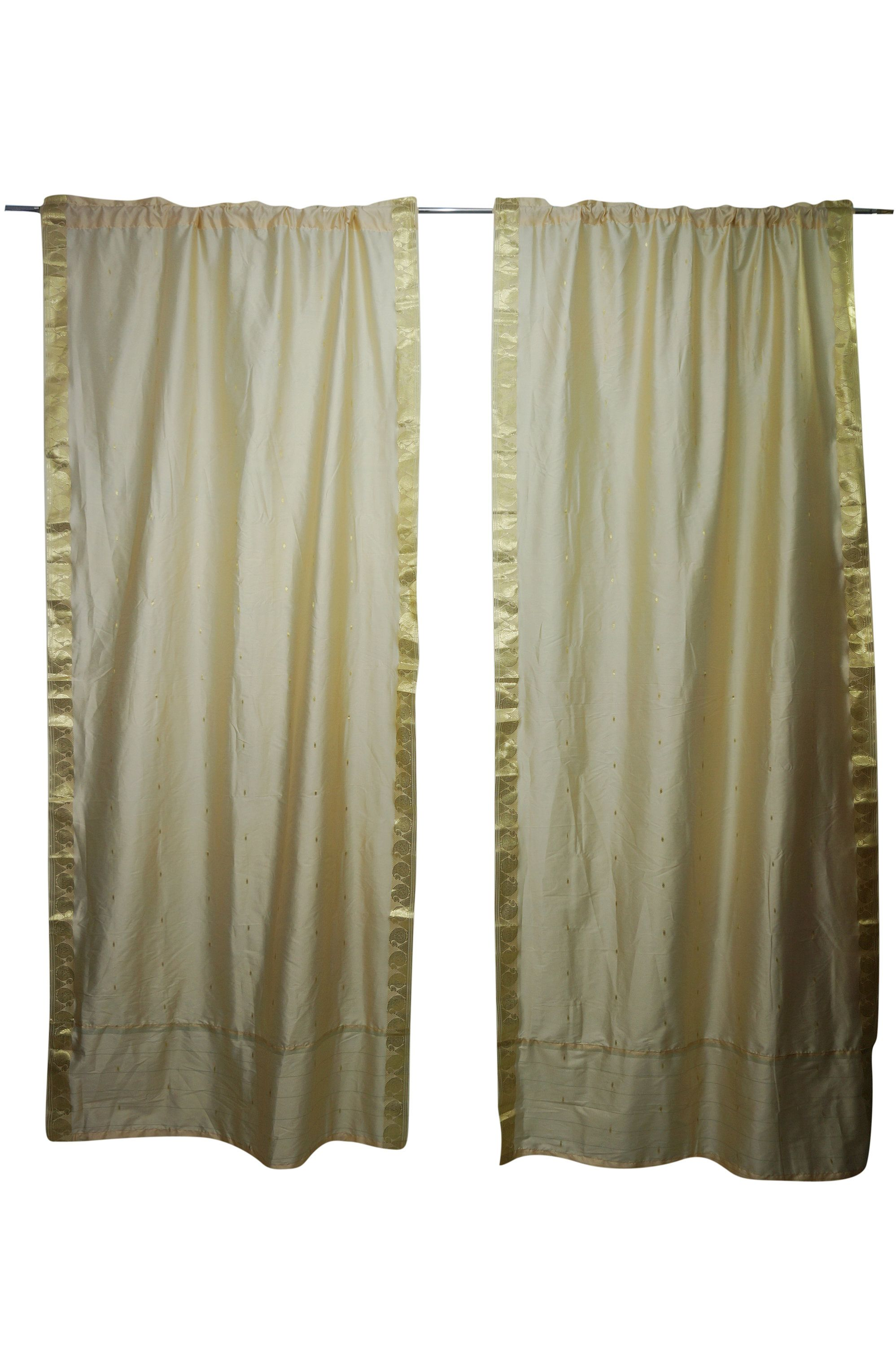 Living Room Curtains Creamy Gold Bedroom Curtain Panel Set Of 2