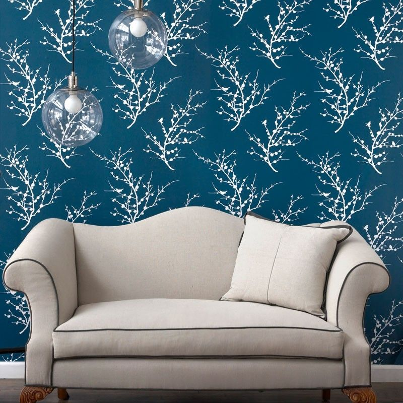 Tempaper Edie Frosted Teal Removable Wallpaper