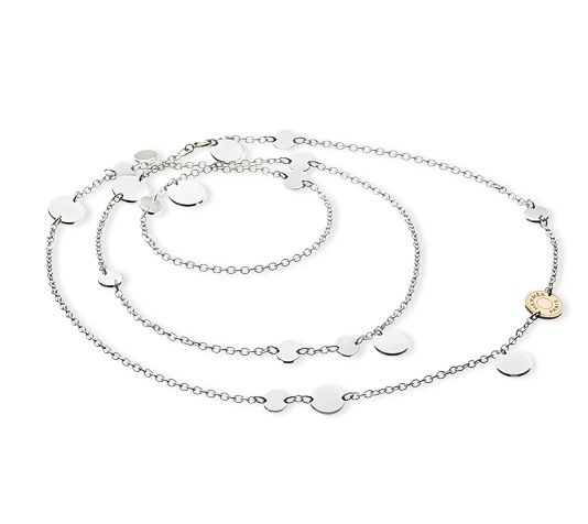 ... uk confettis hermes silver and rose gold necklace 31.5 b4652 bb2ed ba53051260f