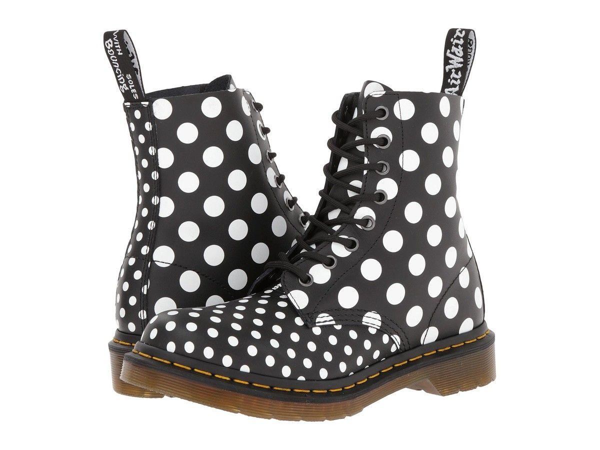 polka dot combat boots