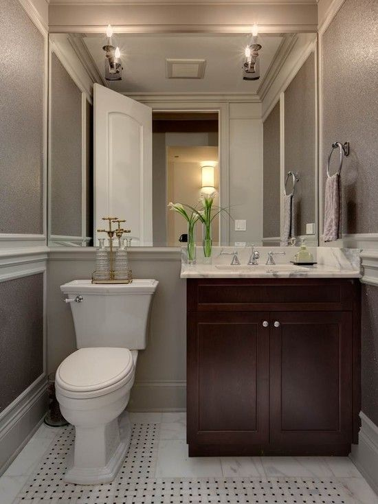 Lincoln Park Home   Traditional   Powder Room   Chicago   Randy Heller Pure  And Simple Interior Design