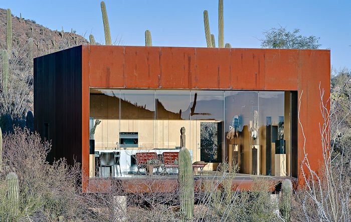 Desert Nomad House In Arizona By Rick Joy Architects   Ten Core Steel  Cladding Lends A Lovely Rust Color To This Desert Getaway