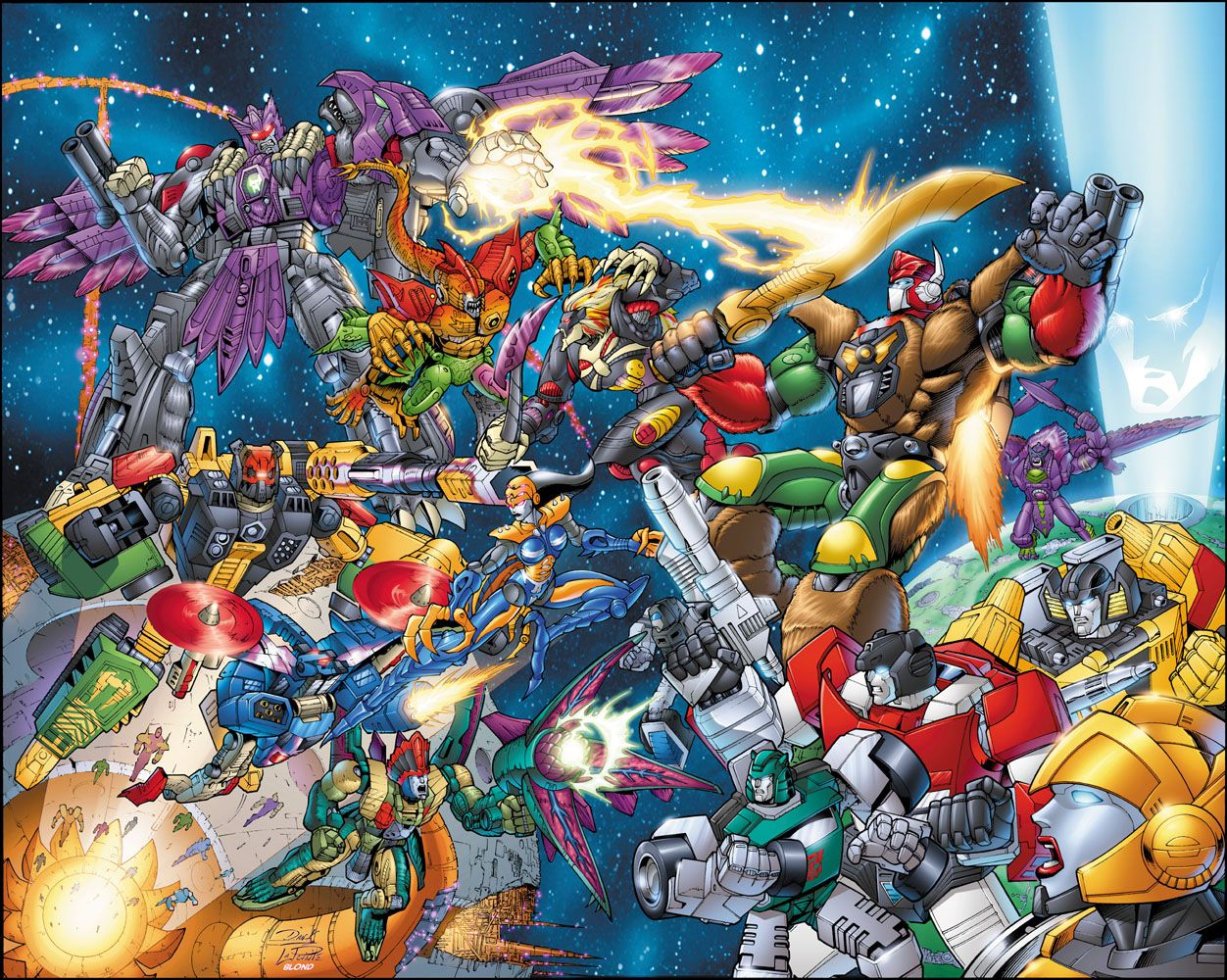 Transformers Universe cover, Lines by Dan Khanna & Serge Lapointe, Color by Blond The Colorist