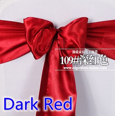 Dark Red Chair Sashes Wood Folding Chairs Costco Color Satin Sash Bow Tie Ribbon Nord Belt Wedding Shiny Dinner Hotel Party Show Wholesale