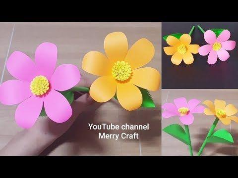 (1) Easy Paper Flowers - Handmade Craft - Room Decoration ldeas - YouTube #easypaperflowers
