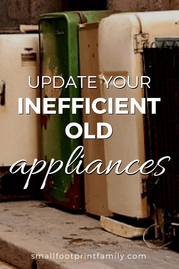 If your appliances are more than 10 years old, they are probably using 70-90 percent more power than new models. You can significantly cut energy use by replacing them.  #greenliving #moneysavers #savingmoney #ecofriendly #sustainability #gogreen #naturalliving #climatechange #globalwarming