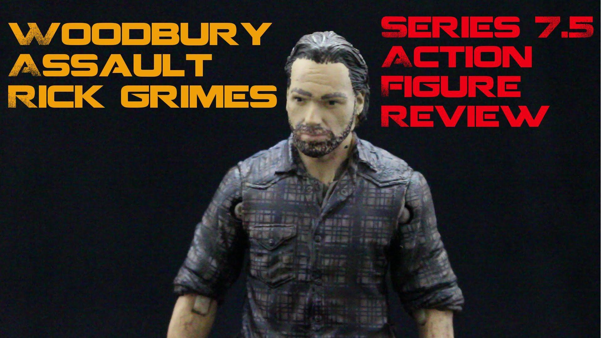 The Walking Dead Woodbury Assault Rick Grimes Action Figure Review