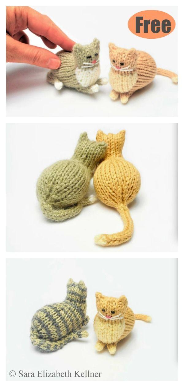 Tiny Parlor Cat Free Knitting Pattern #startknittingfreepattern #easyknittingpat... #knittingpatternsfree