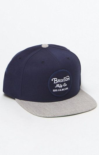 57c7d2d6753 Wheeler Navy   Grey Snapback Hat