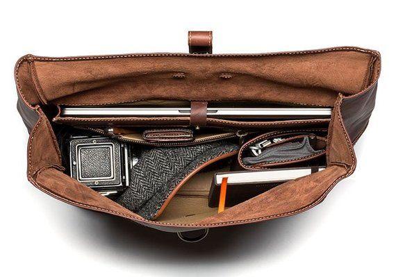 98d0f6af5e Heritage Leather Men s Satchel Bag - Galloper Black