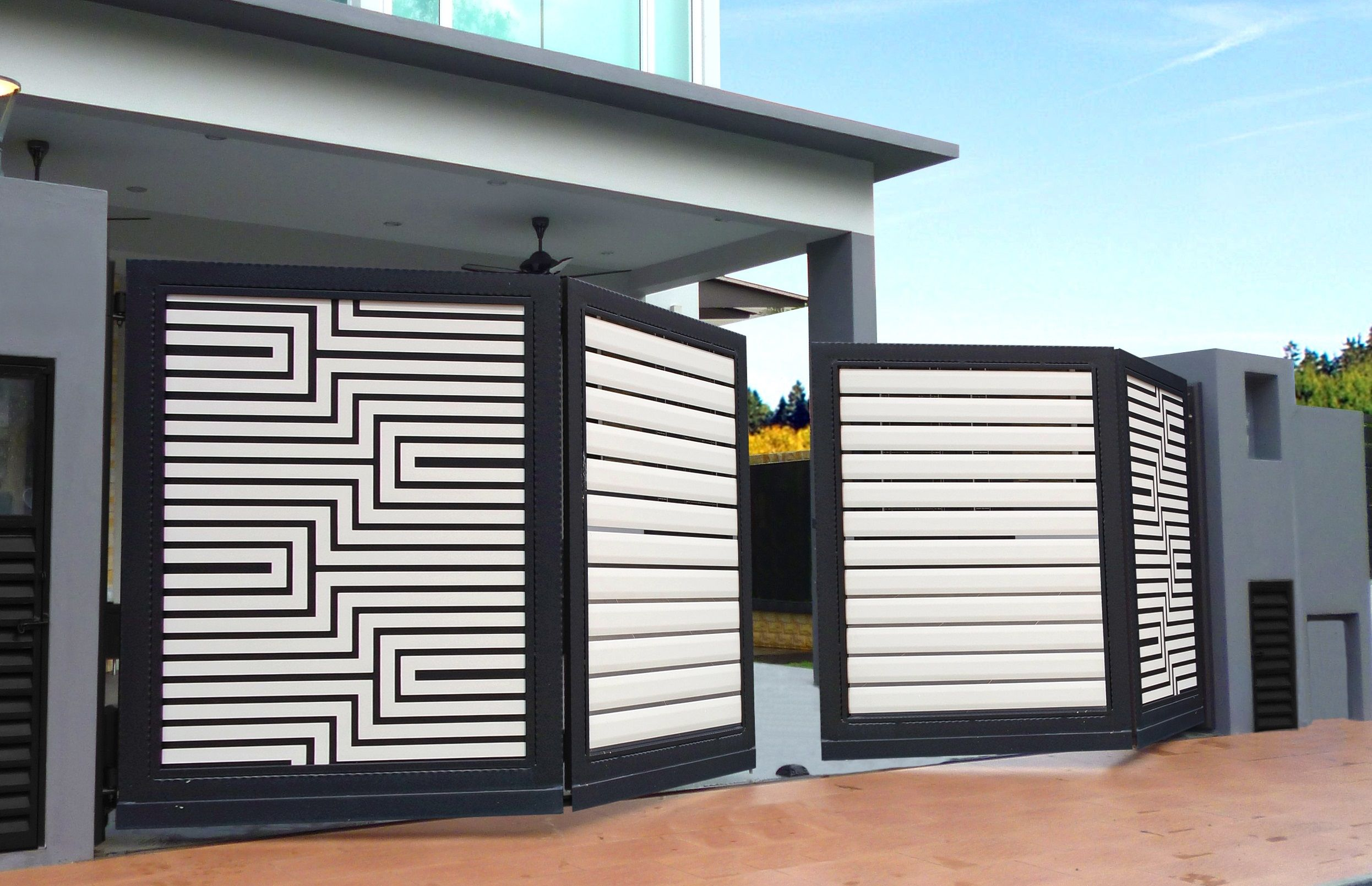 Contemporary Compound Wall Gate Designs