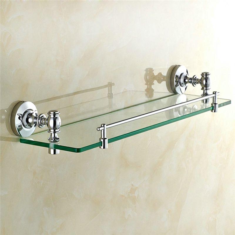 Glasregal Bad Chrom Wandmontage Badzuhor Glass Shelves Glass Bathroom Shelves Garage Storage Racks