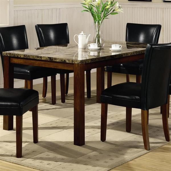 Coaster Furniture Telegraph Warm Brown Dining Table Dining Table