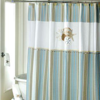 Avanti By The Sea Fabric Shower Curtain Fabric Shower Curtains