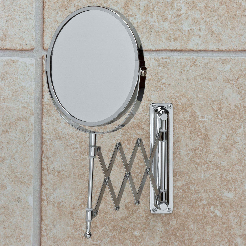 Buy the Extendable Chrome Bathroom Mirror at The Range