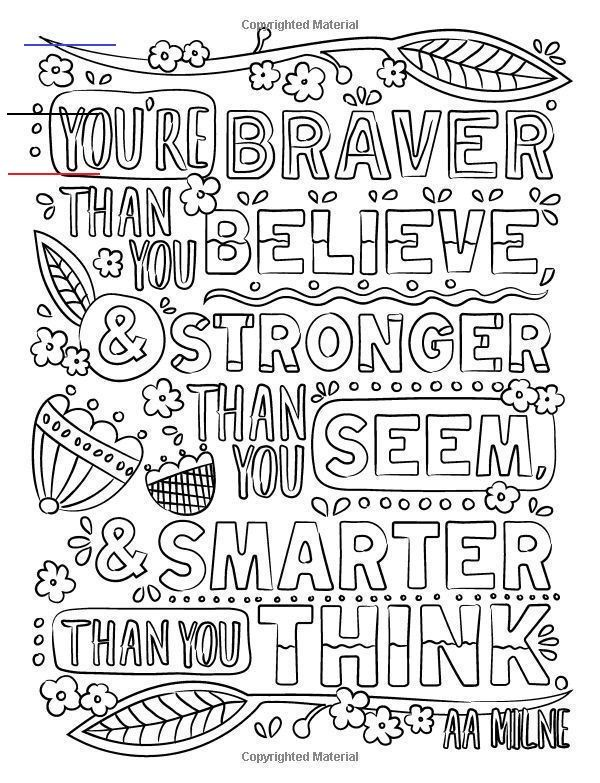 you're braver than you believe  coloringsheets  malbuch