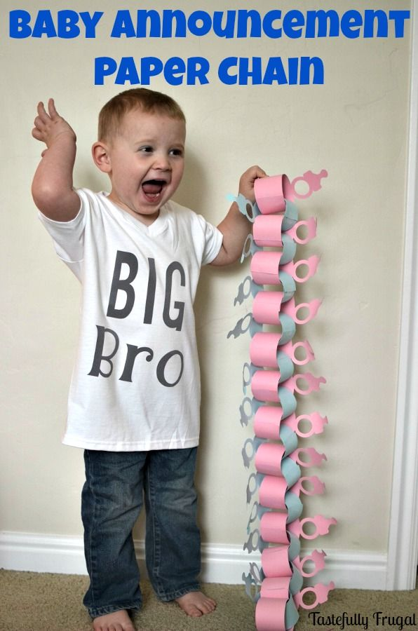Diy Baby Announcement Paper Chain Cricut And Silhouette