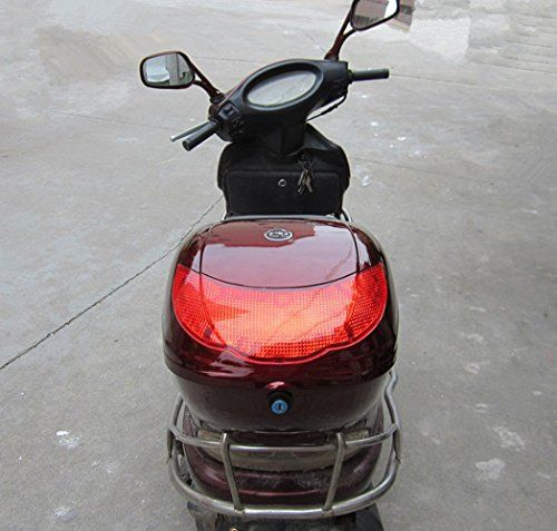 RED HARD CASE SCOOTER LUGGAGE BOX and SCOOTER MOTORCYCLE COVER