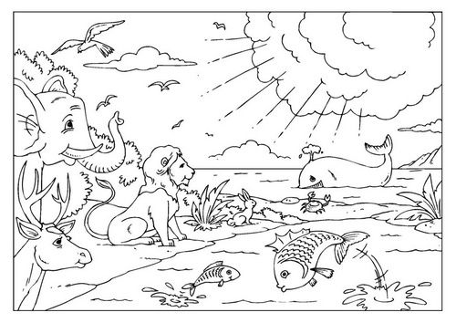 Creation Coloring Page Coloring Pages Of Bible Creation Story