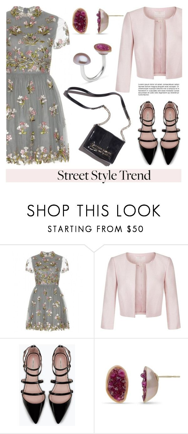 """Street Style Trend: Mini Dress"" by littlehjewelry ❤ liked on Polyvore featuring Valentino, Jacques Vert, Zara, Ramy Brook, summerdress, minidress, contestentry, pearljewelry and littlehjewelry"