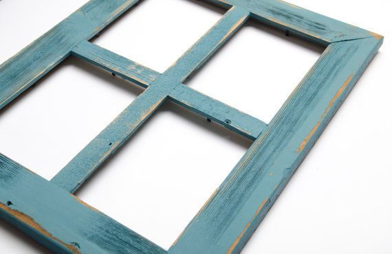 New rustic farmhouse barn wood reclaimed 4 photo picture frame ...