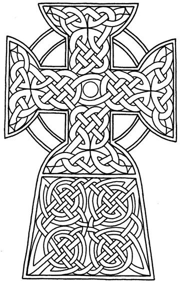 Celtic Coloring Pages Celtic Cross