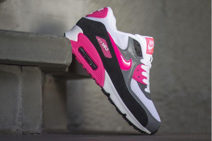 Nike WMNS Air Max 90 Essential Cool GreyBlack Hyper Pink
