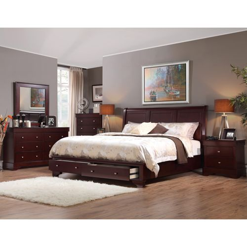 Avalon 6 Piece Queen Storage Bedroom Set Bedroom Sets