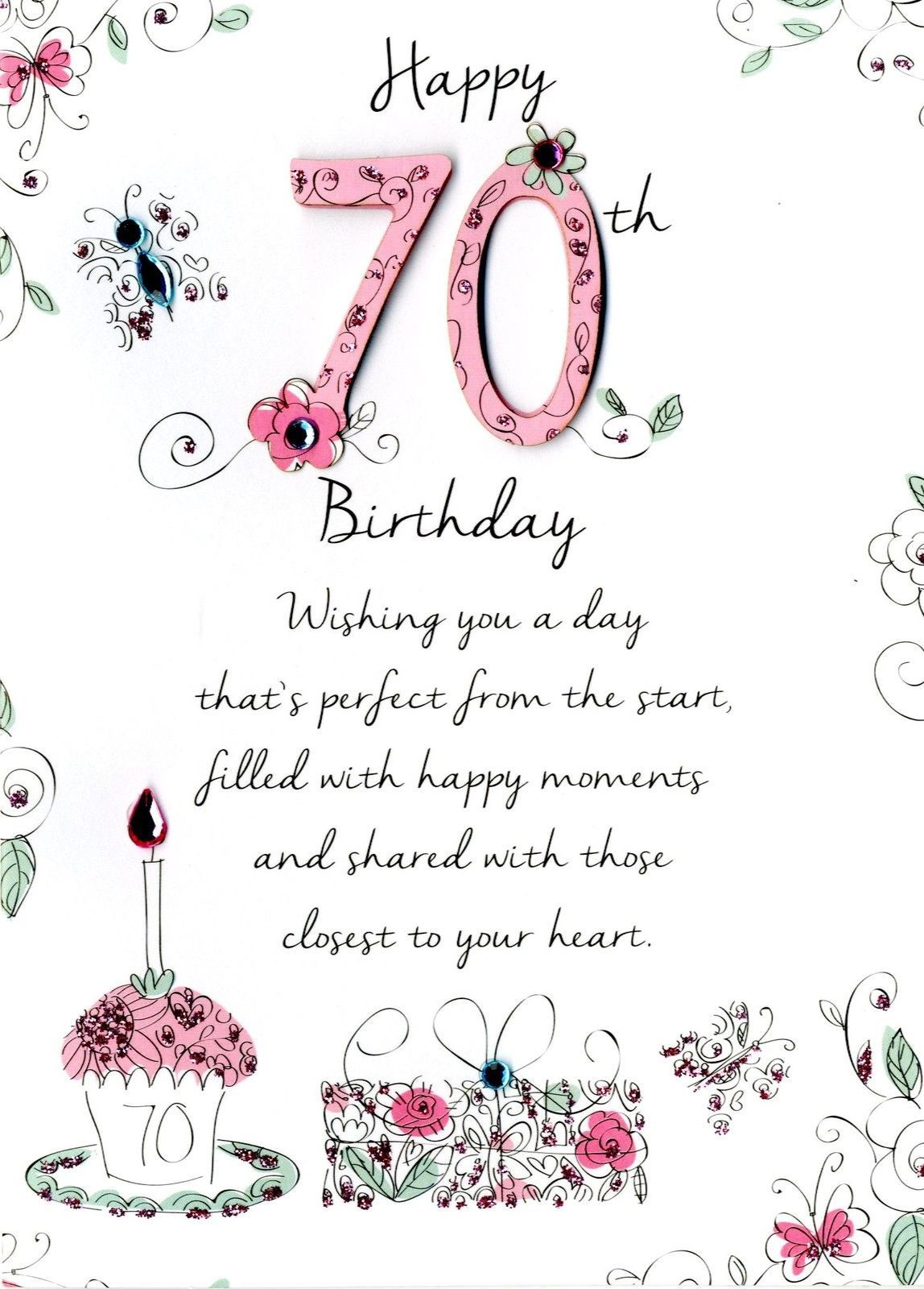 Beautiful Greeting Card For A Special Mum On Your 70th Birthday