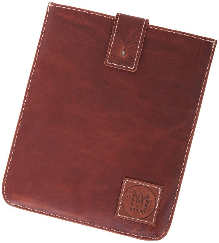 MAHI Leather - Leather Stockholm iPad Tablet Case in Vintage Brown with Cream Stitching