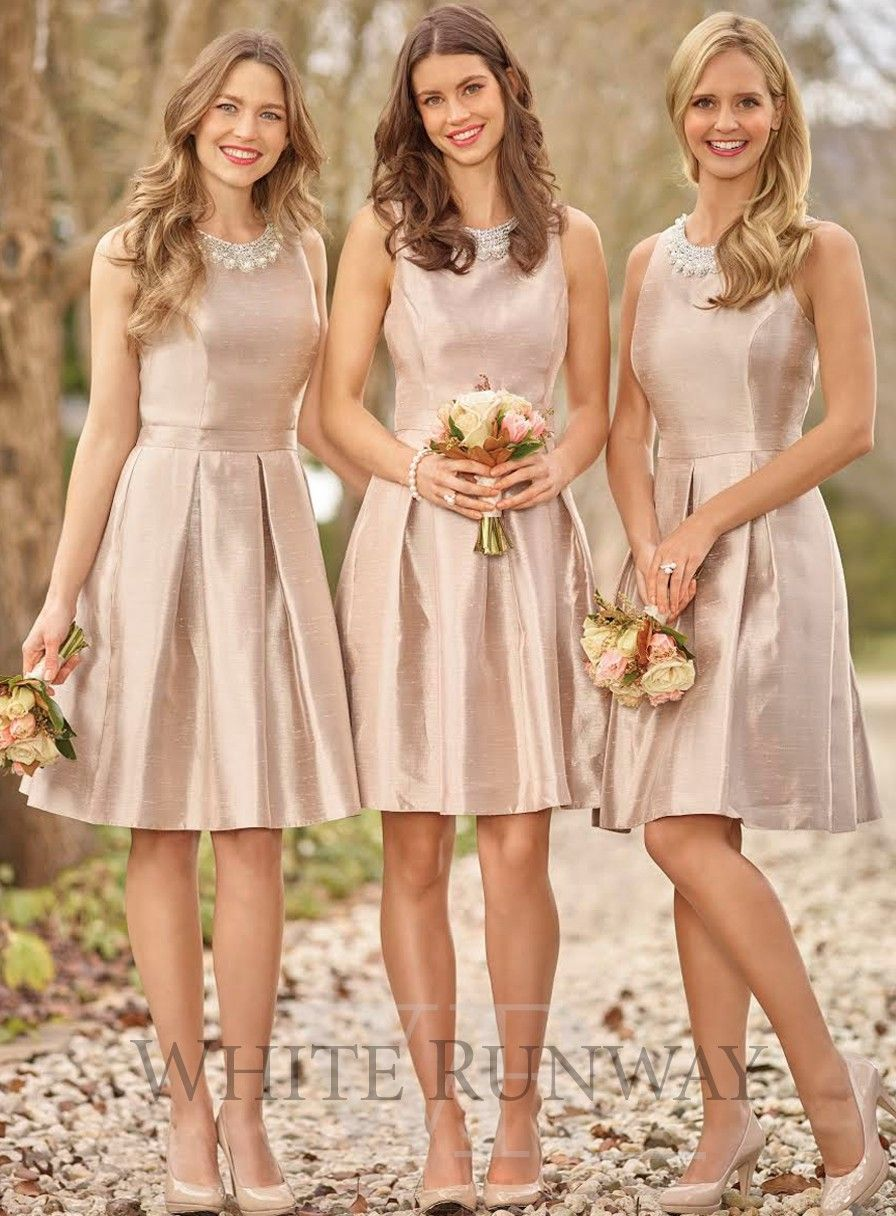 Shimmering champagne bridesmaid dress with beading neckline sweet a shimmering champagne bridesmaid dress with beading neckline sweet a line skirt ombrellifo Images