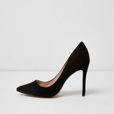 03bd156441f5  72 at River Island Black wide fit pointed pumps
