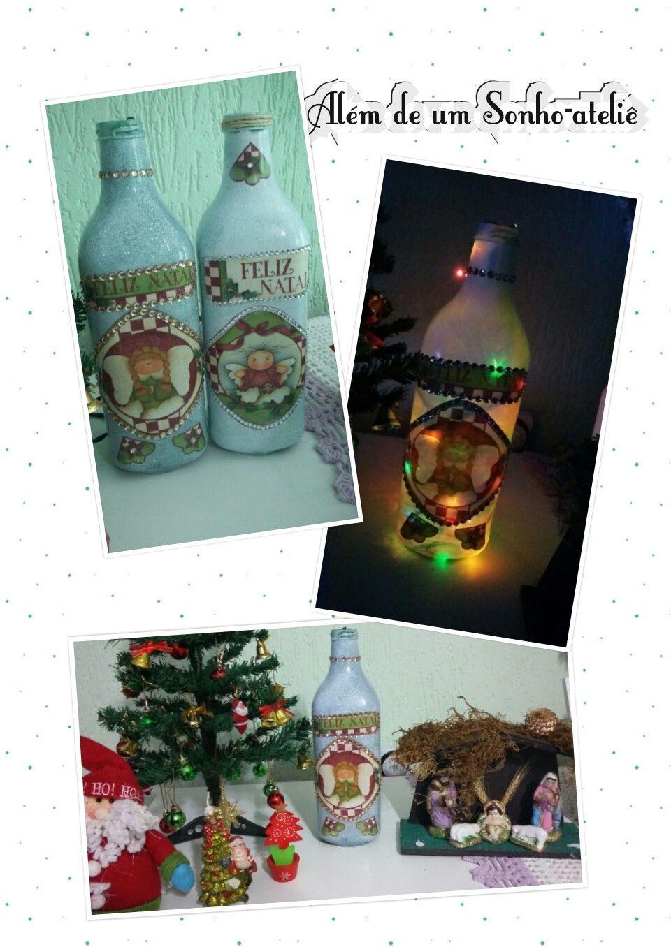 Garrafas Reutilizadas Para Completar A Decoracao De Natal Uma