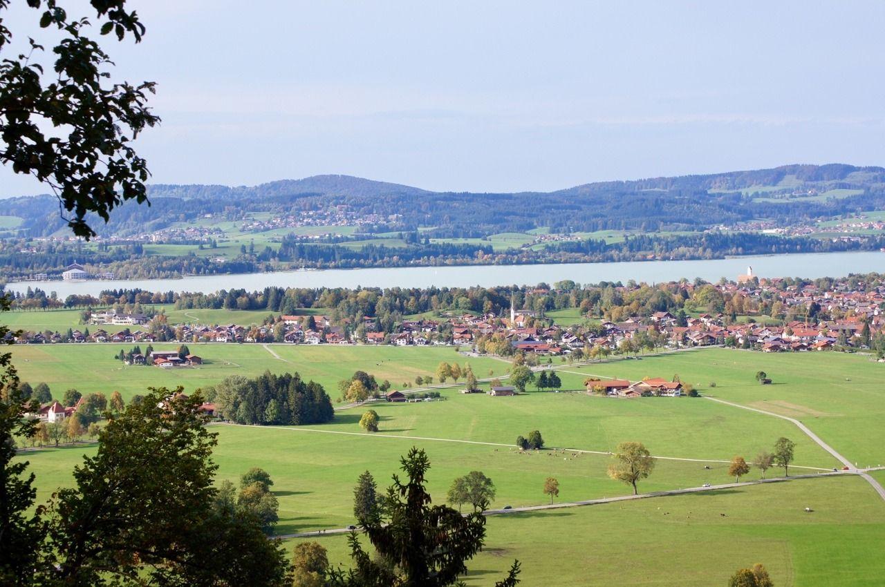 View Of The Gemeinde Schwangau From Neuschwanstein Castle Bayern Bavaria Bayern Castles Countryside Schloss Neuschwanstein Gemeinde Deutschland Burgen