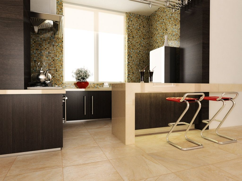 limited kitchen space? Here\'s a nice solution with #Interceramic ...