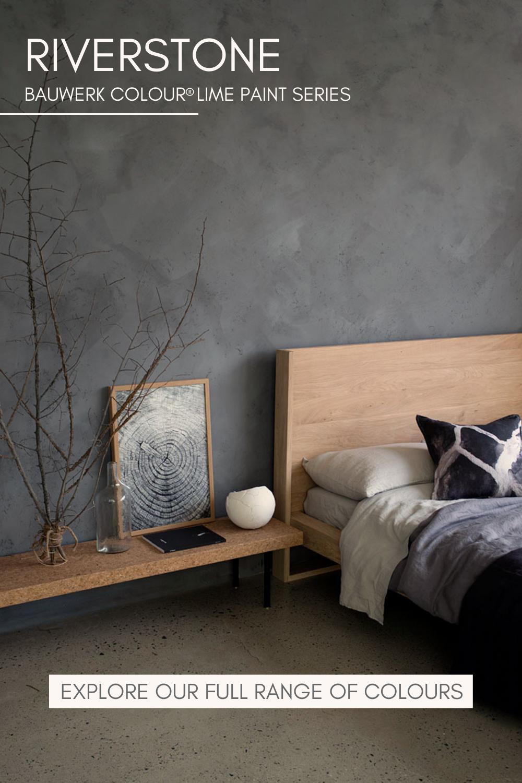 Bauwerk Concrete Grey Limewash Paints Concrete Walls Bedroom Concrete Bedroom Bedroom Interior