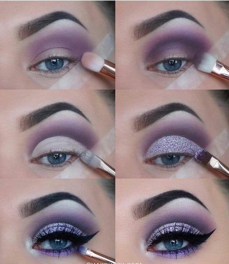 Purple eyeshadow makeup #eyeshadowlooks