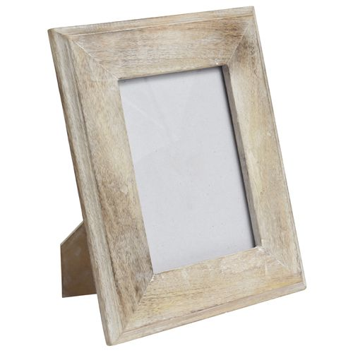 Cadre photo en bois de manguier blanchi Cabanon Côté Table - GM