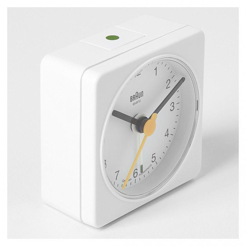 Classic Analogue Travel Alarm Clock White Travel Alarm Clock Alarm Clock Clock