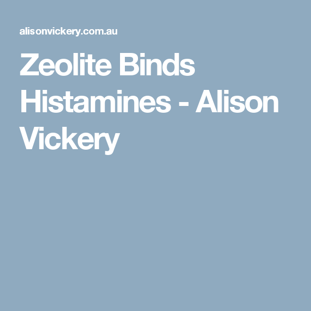 Zeolite Binds Histamines | EDS & MCAS | Thyroid health, Medical