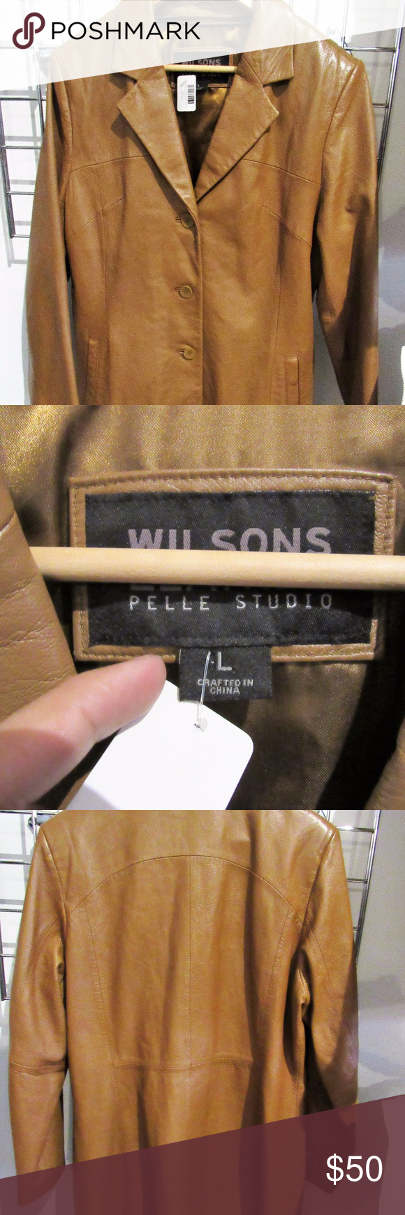 Wilson Leather Jacket! Wilson Leather Pelle Studio Women