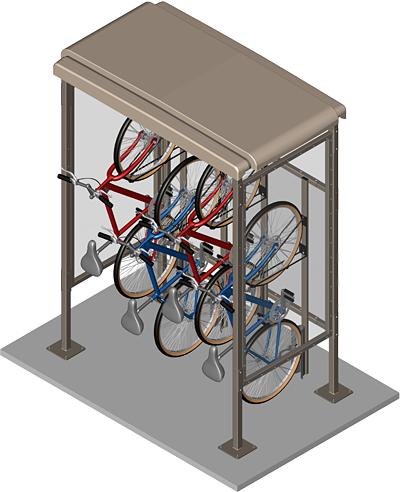 Bike shelter outdoor bike shelters pinterest best for Outdoor storage shelter