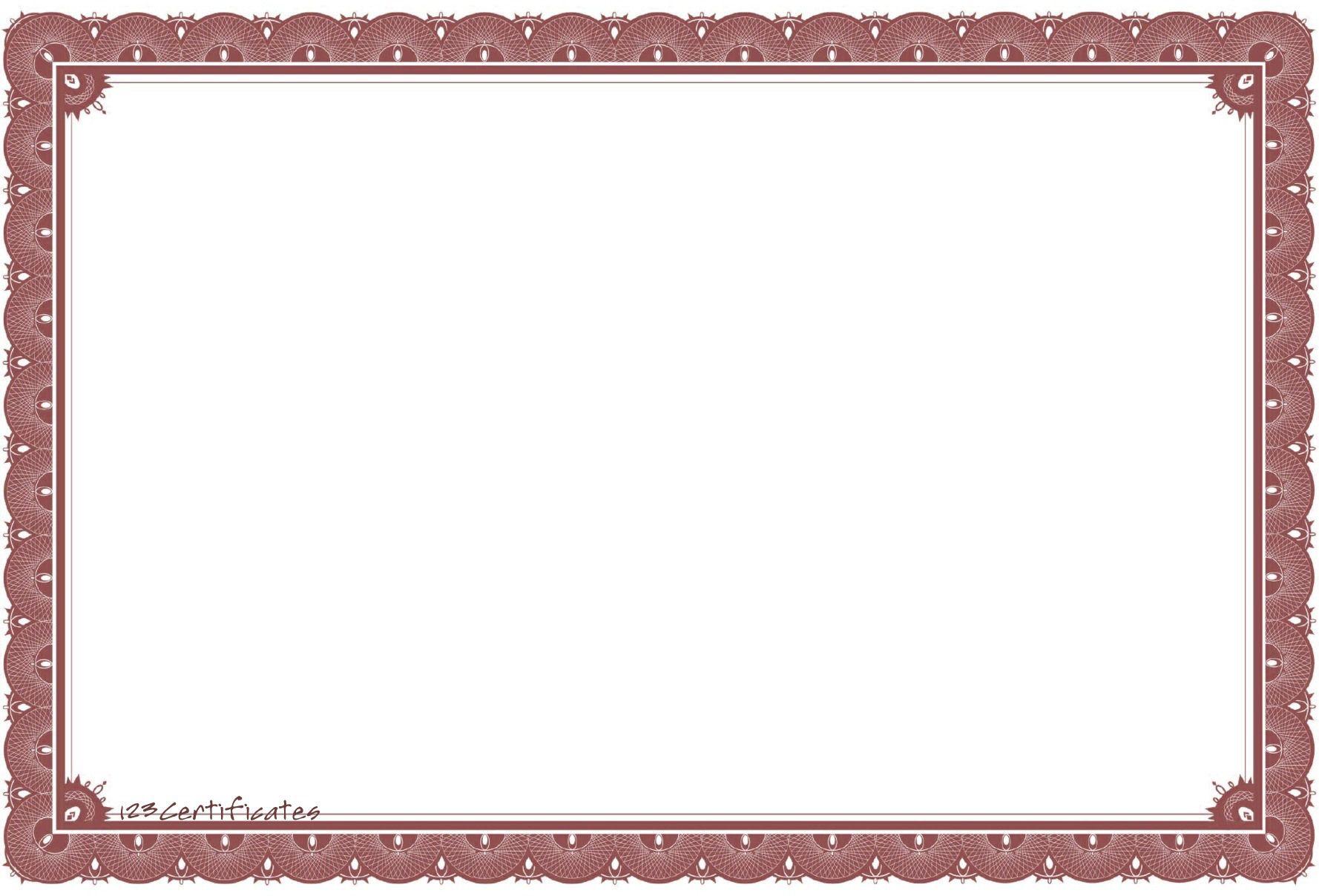 Free Printable Preschool Award Certificates. Certificate Borders ...