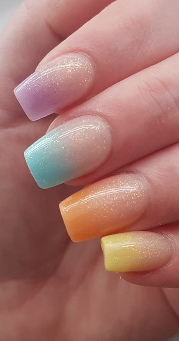 50+ Amazing and Summer Ombre Nail design Ideas for 2019