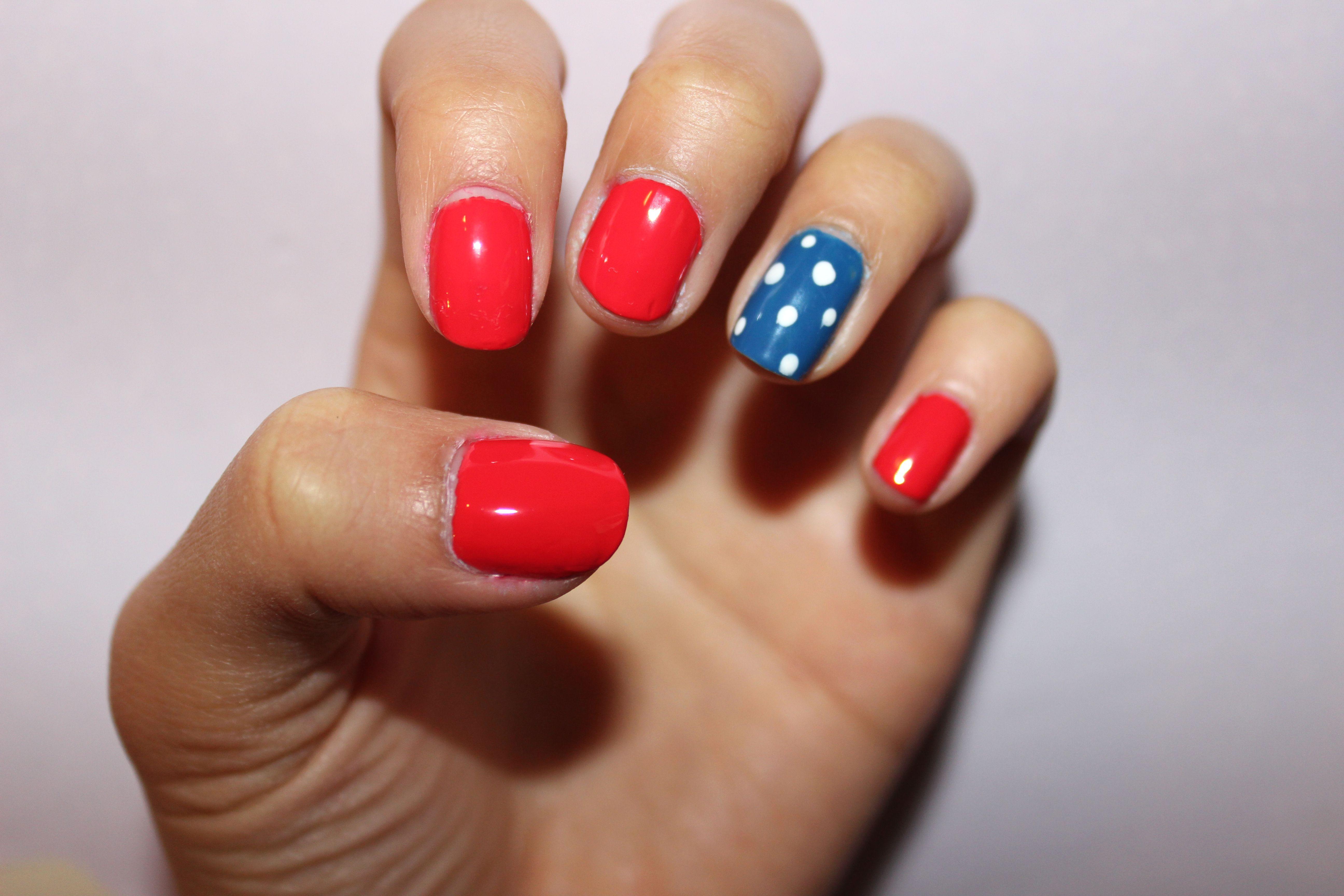 Simple Fourth of July nails! #usa | Cute nails, Nails ...