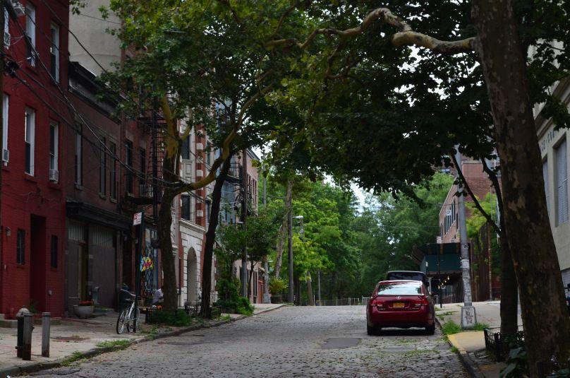 Brick Laid Street In Vinegar Hill Brooklyn