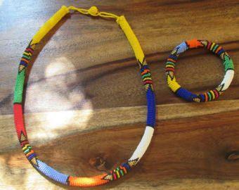 Collar de cuentas Zulu africano
